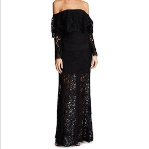 Ali & Jay off the shoulder lace gown